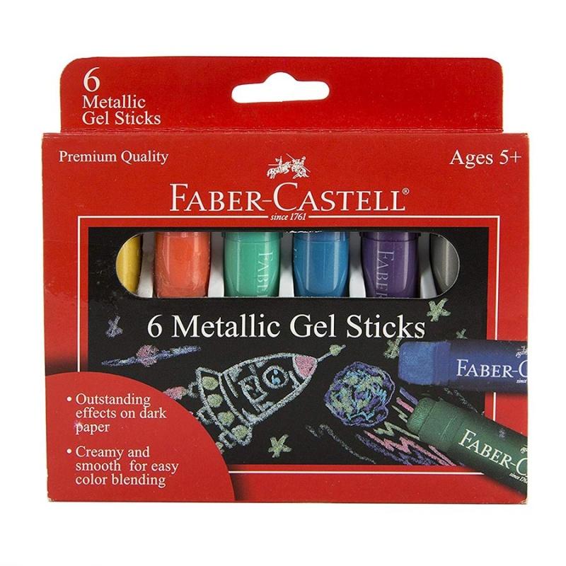 Faber Castell Metallic Gel Sticks 6 Count ( Ages 5+)