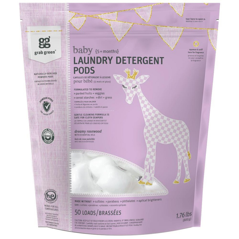 Grab Green Dreamy Rosewood Laundry Powder Pods 50 Loads
