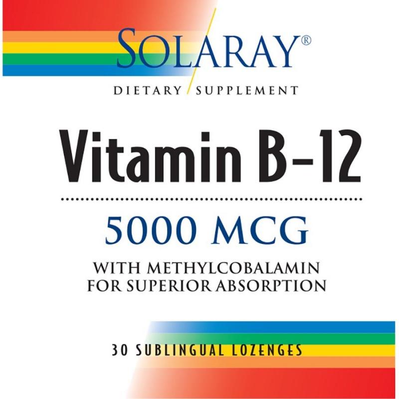 Solaray Vitamin B-12 30 Count