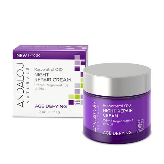 Andalou Naturals Resveratrol Q10 Night Repair Cream 1.7 Fl. Oz.