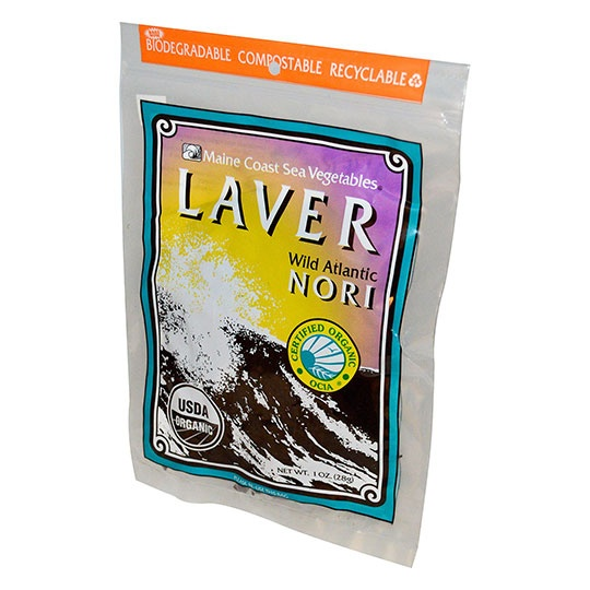 Maine Coast Sea Vegetables Whole Laver Leaf 1 Oz. Bag