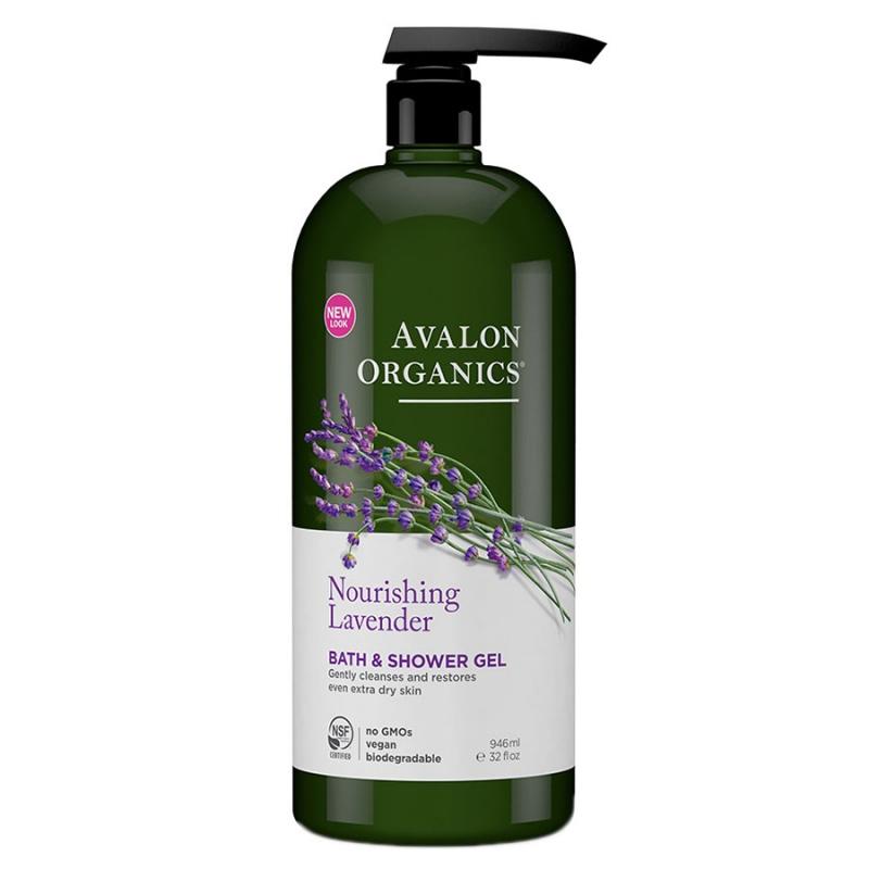 Avalon Organics Lavender Bath & Shower Gel 32 Fl. Oz.