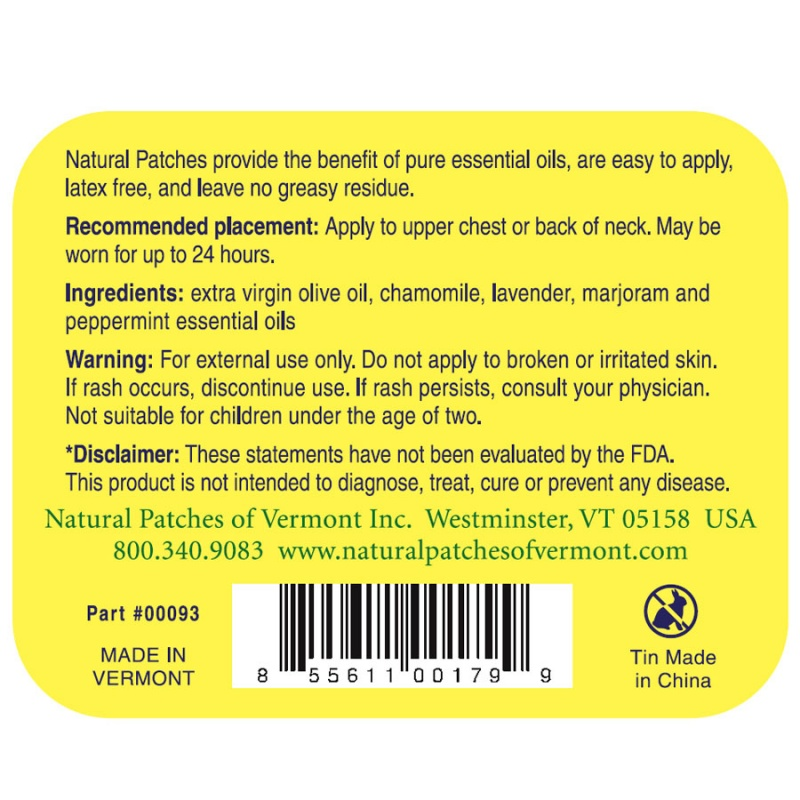 Naturopatch Chamomile Soothing Migraine Formula