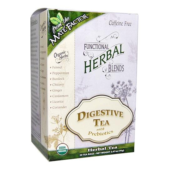 Mat&eacute Factor Digestive With Prebiotics Herbal Tea Blend 20 Tea Bags