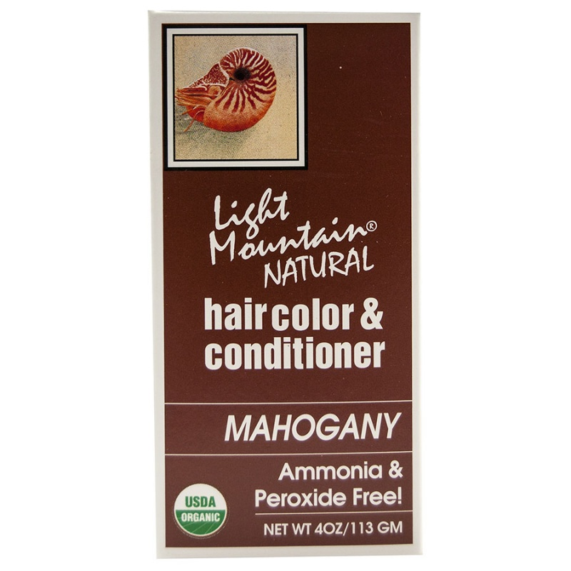 Light Mountain Mahogany Henna Hair Color & Conditioner 4 Oz.
