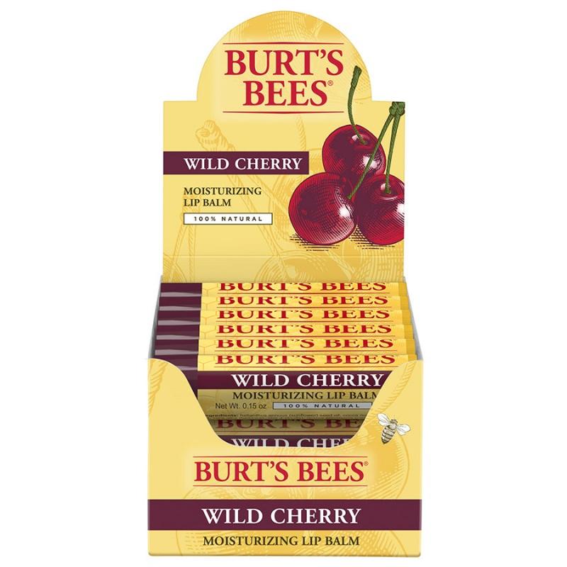 Burt's Bees Wild Cherry Lip Balm Tube Refill Pack 12 (0.15 Oz.) Tubes