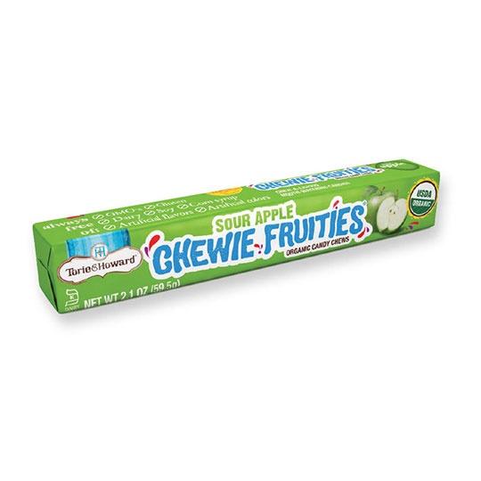Torie & Howard Sour Apple Gluten- Free Organic Chewie Fruities 10 (2.1 Oz.) Pieces