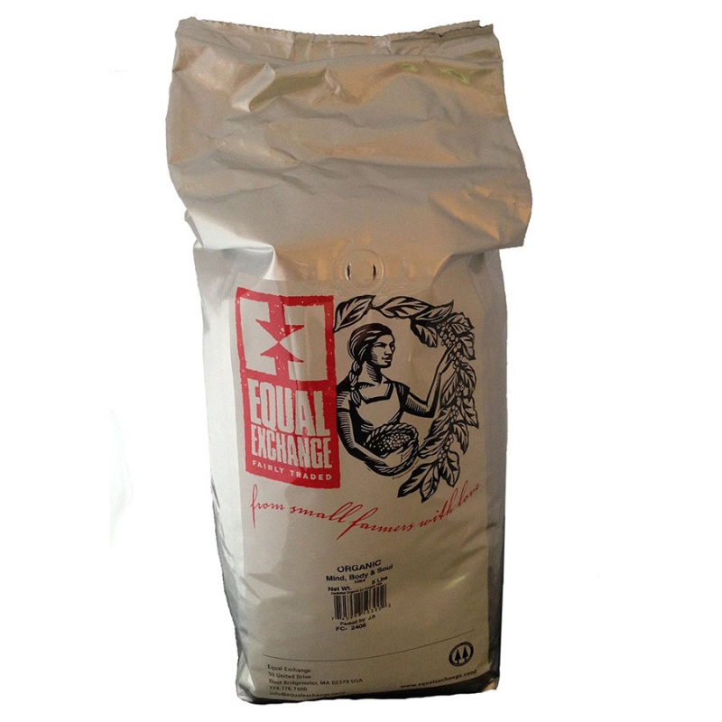 Equal Exchange Organic Mind, Body & Soul Whole Bean Coffee 5 Lb.