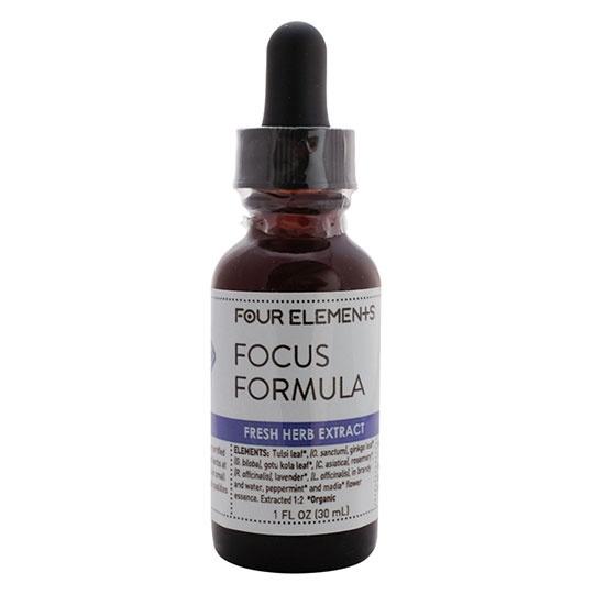 Four Elements Herbals Focus Formula Blend Herbal Tincture 1 Fl. Oz.