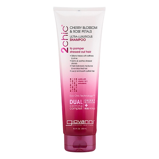Giovanni 2chic Ultra Luxurious Cherry Blossom & Rose Petals Shampoo 8.5 Fl. Oz.