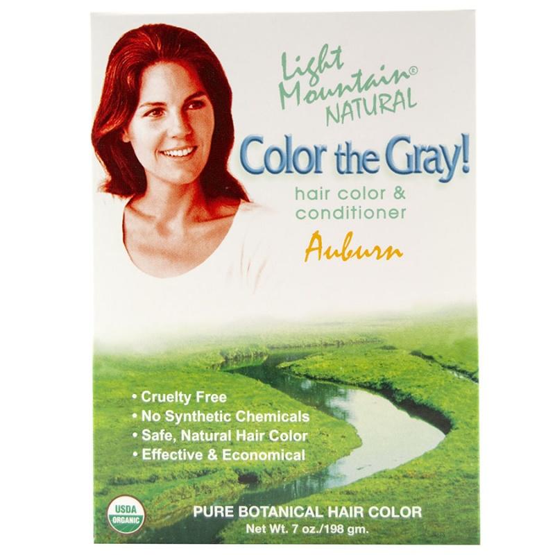 Light Mountain Auburn Hennagray Hair Color 7 Oz.