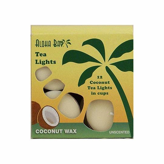 Aloha Bay Unscented Cream Tea Lights 12 Pack