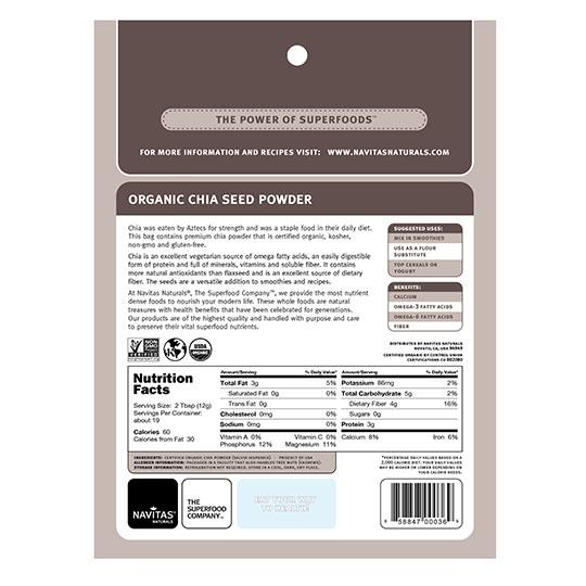 Navitas Organics Chia Seed Powder 8 Oz.