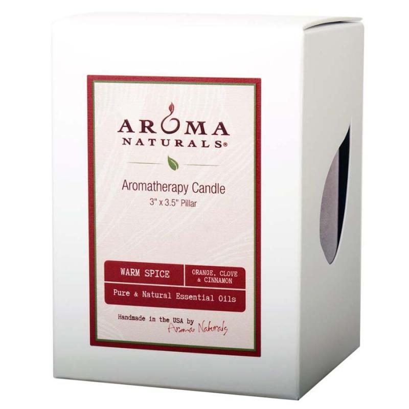 Aroma Naturals Warm Spice Ruby Red Pillar 3 X 3 1/2