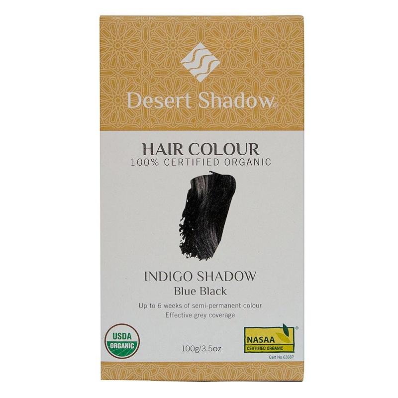 Desert Shadow Indigo Shadow Blue Black Organic Hair Color 3.5 Oz