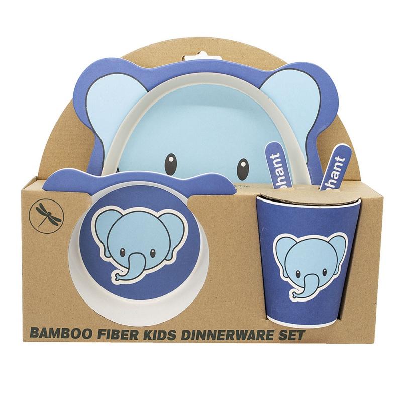Greener Things Kids Dinner Set Elephant