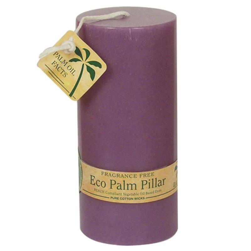 Aloha Bay Unscented Violet Pillar Candle 2 1/4 X 5