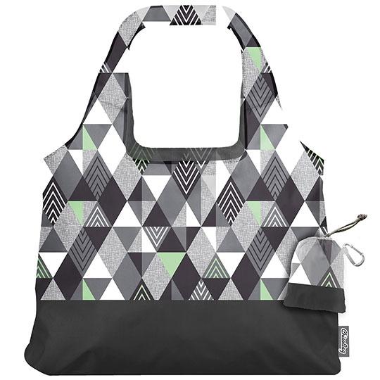 Chico Bag Gray Triangles Matrix Vita Abstract Reusable Shopping Bag 19 X 13