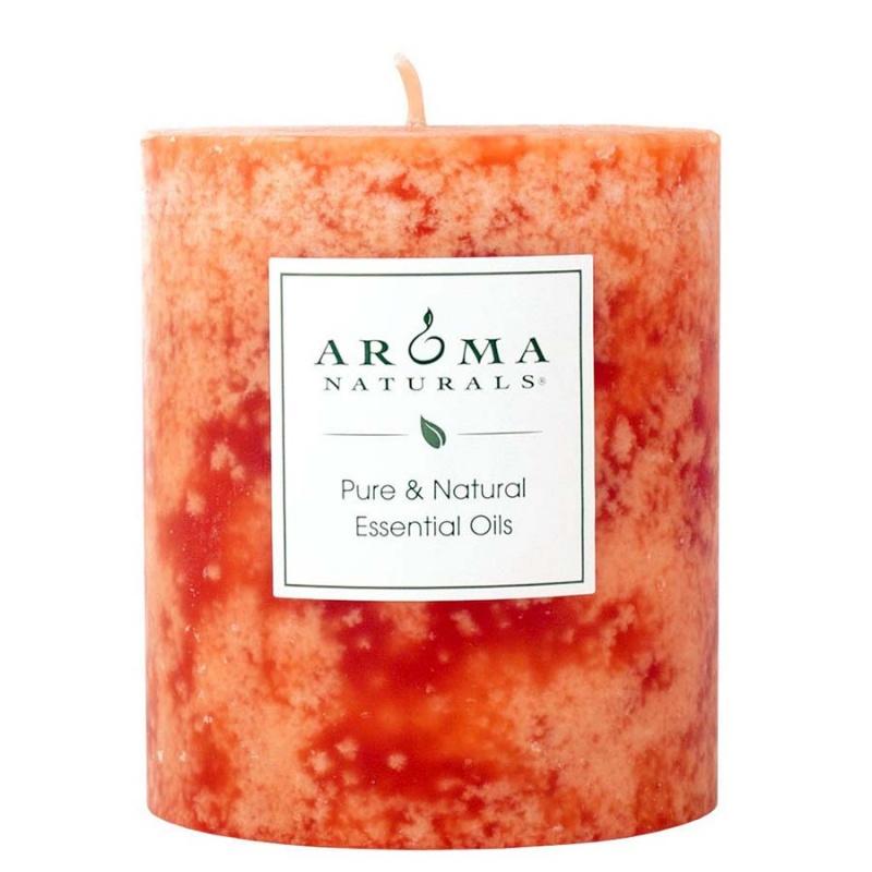 Aroma Naturals Clarity Orange Pillar 3 X 3 1/2