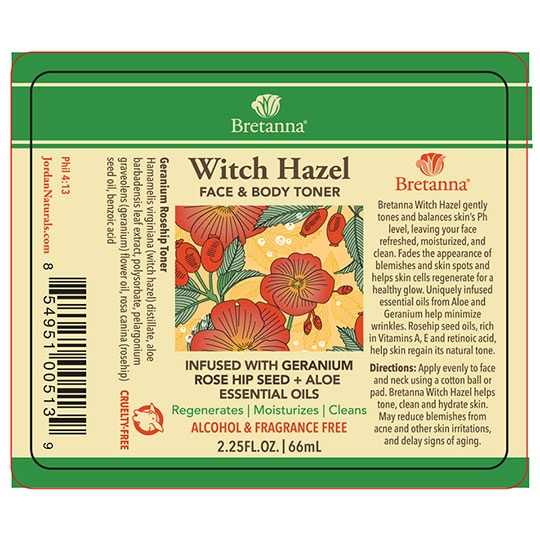 Bretanna Geranium Rosehip Witch Hazel 2.25 Fl. Oz.