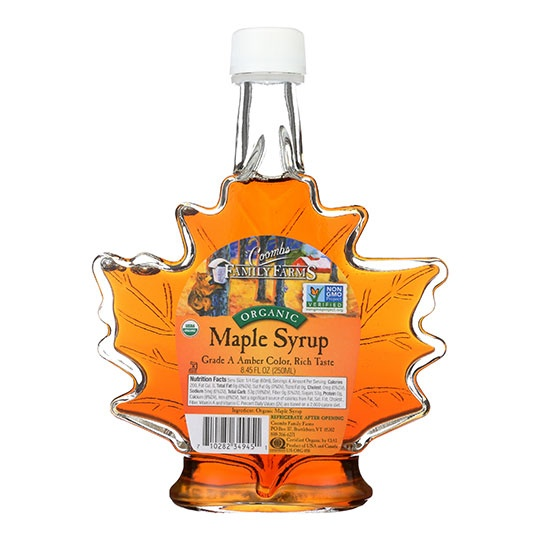 Coombs Family Farms Organic Grade A Amber Color Rich Taste Maple Syrup 8.45 Oz.