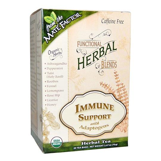Mat&eacute Factor Immune Support With Adaptogens Herbal Tea Blend 20 Tea Bags