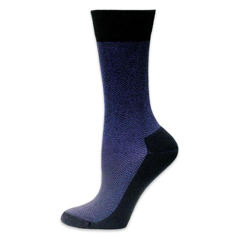 Maggie's Functional Organics 10-13 Black Cotton Dress Socks