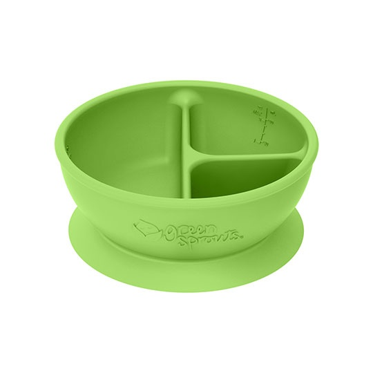 Green Sprouts Feeding Green 3- Section Suctioned Learning Bowl