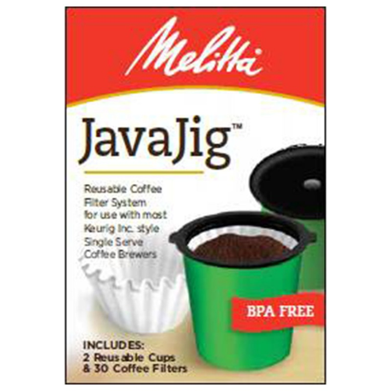 Melitta Javajig Reusable Coffee Filter System Single Serve