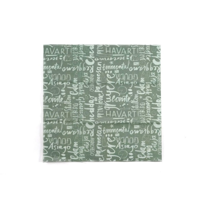 Z Wraps Medium Beeswax Wrap, Cheese Print 12 X 12