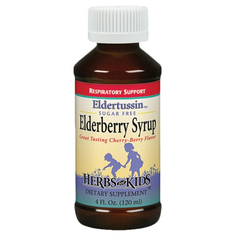 Herbs For Kids Eldertussin Elderberry Syrup 4 Fl. Oz.