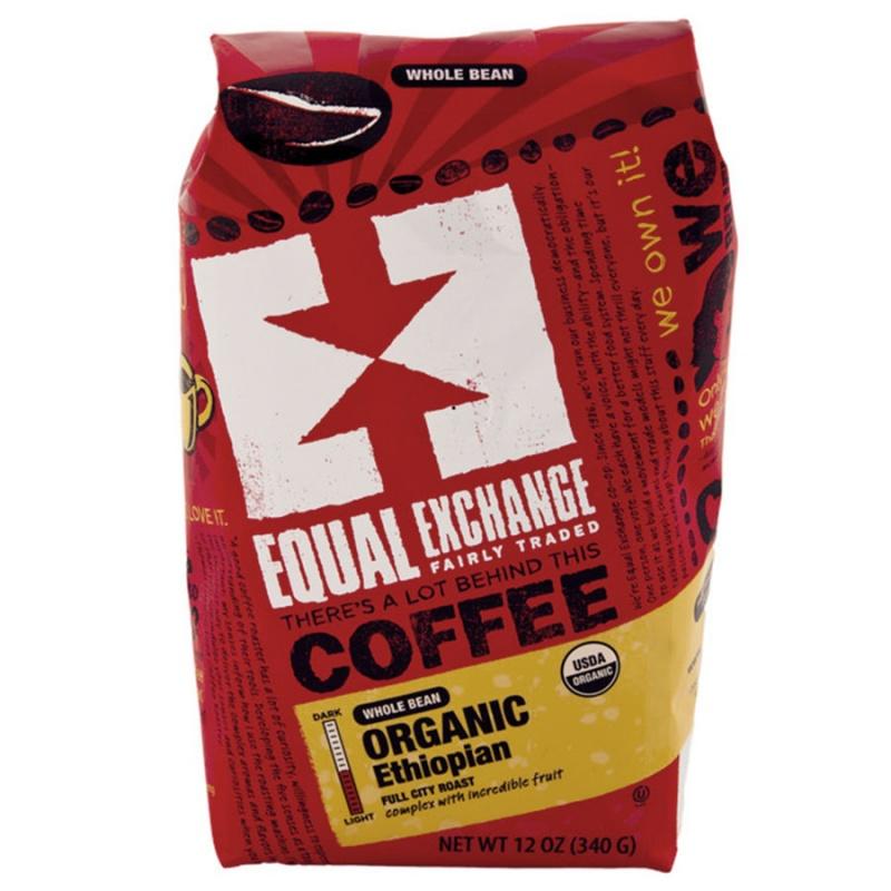 Equal Exchange Organic Ethiopian Whole Bean Coffee 12 Oz.