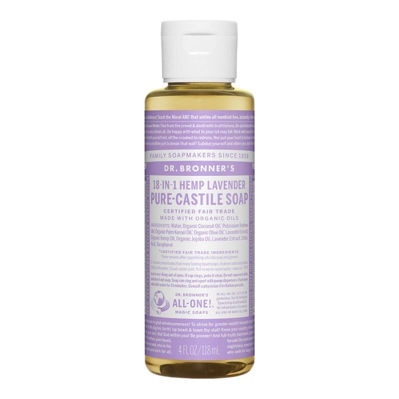 Dr. Bronner's 18-in-1 Lavender Castile Soap 4 Fl. Oz.