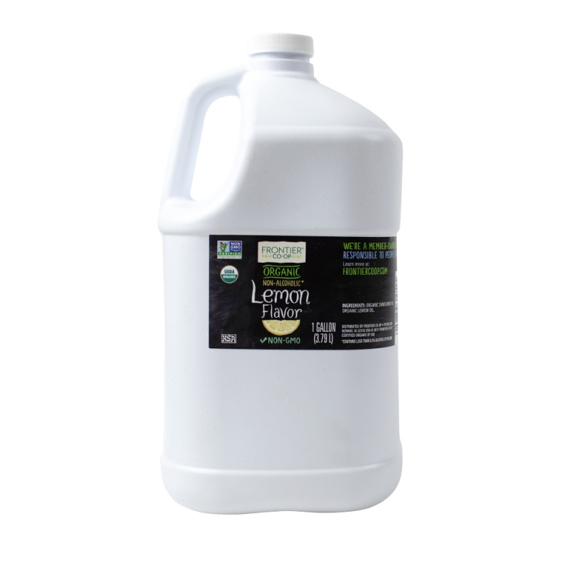 Frontier Co-op Lemon Flavor, Organic 1 Gallon