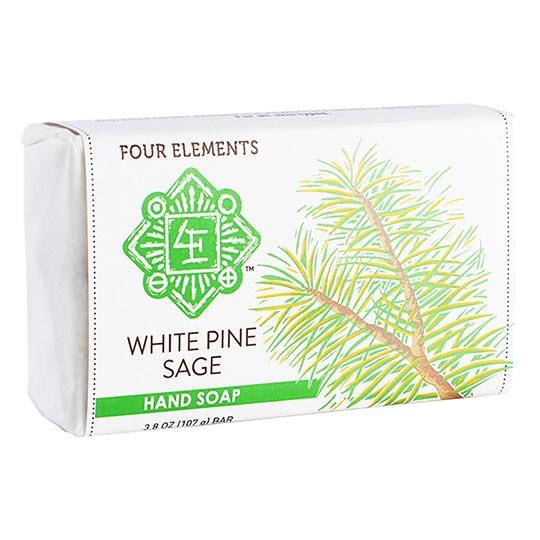 Four Elements Herbals White Pine Sage Soap 3.8 Oz.