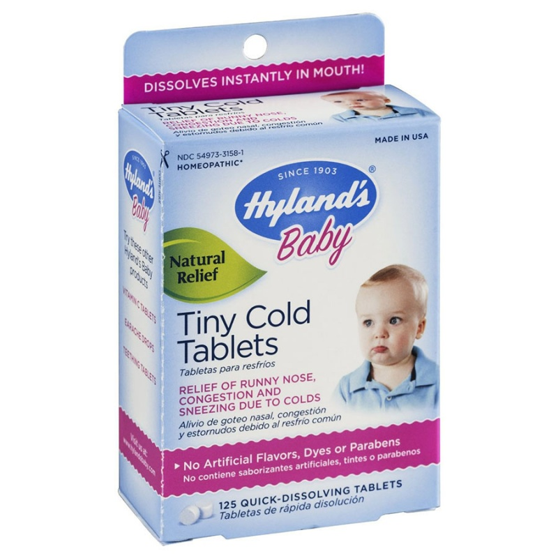 Hyland's Baby Tiny Cold Tablets 125 Quick Dissolving Tablets