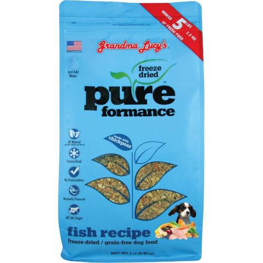 Grandma Lucy's Freeze- Dried Salmon Pureformance Dog Food 1 Lb