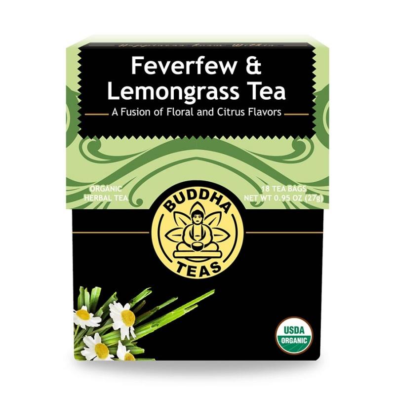 Buddha Teas Organic Feverfew Lemongrass 18 Tea Bags