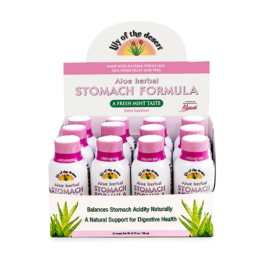 Lily Of The Desert Aloe Herbal Stomach Formula Display