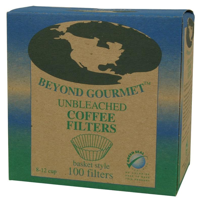 Beyond Gourmet Basket Style Unbleached Coffee Filters Basket