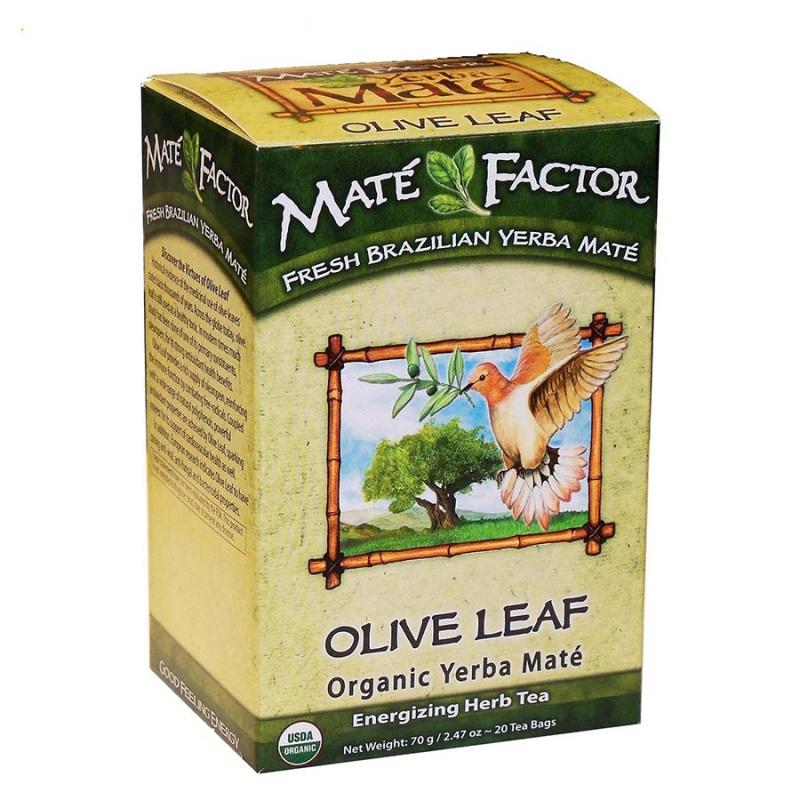 Mat&Eacute Factor Olive Leaf Organic Yerba Mate 20 Tea Bags