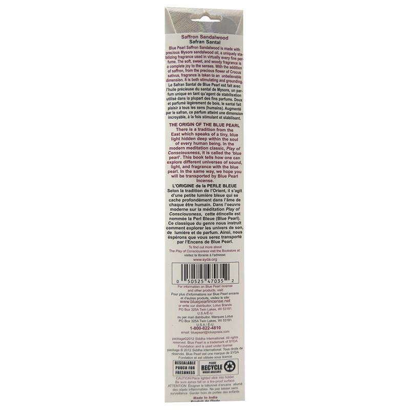 Blue Pearl Saffron Sandalwood Incense 10 Grams