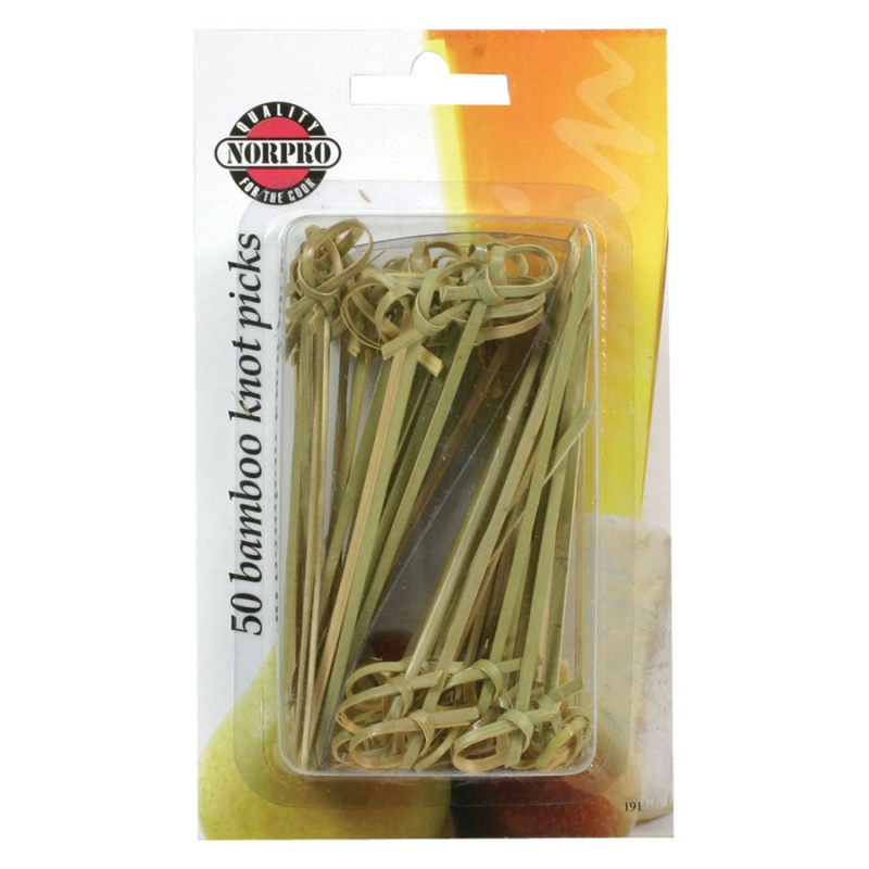 Bamboo Knot Picks 50 (4.5 Inch) Count