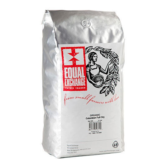 Equal Exchange Organic Colombian Whole Bean Coffee 5 Lb.