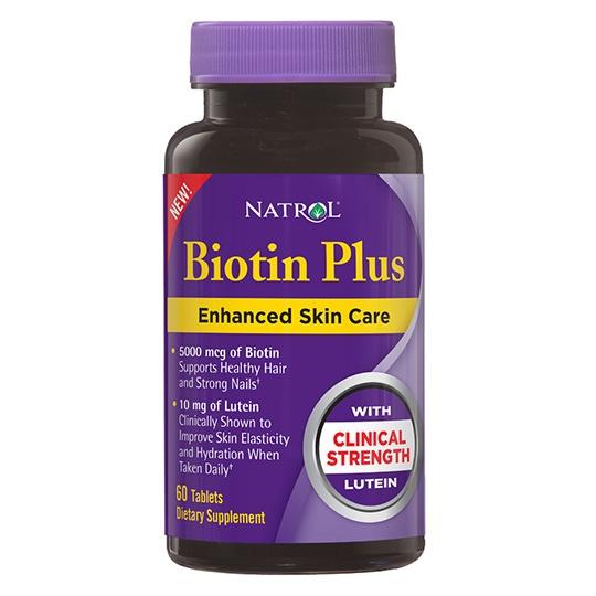 Natrol Biotin Plus With Lutein 60 Tablets