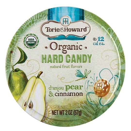 Torie & Howard Pear & Cinnamon Hard Candy 2 Oz.