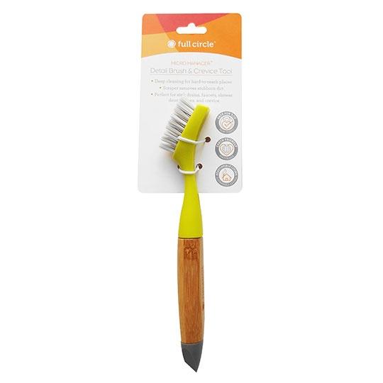 Full Circle Micro Manager Detail Brush & Crevice Tool, Green