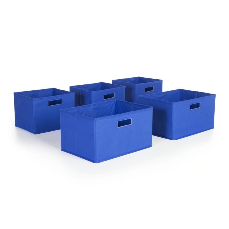 Blue Storage Bins-set Of 5