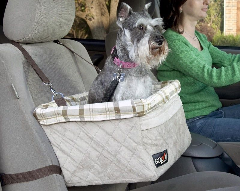 Large Deluxe Pet Car Booster Seat For Pets Up To 18lbs #62346