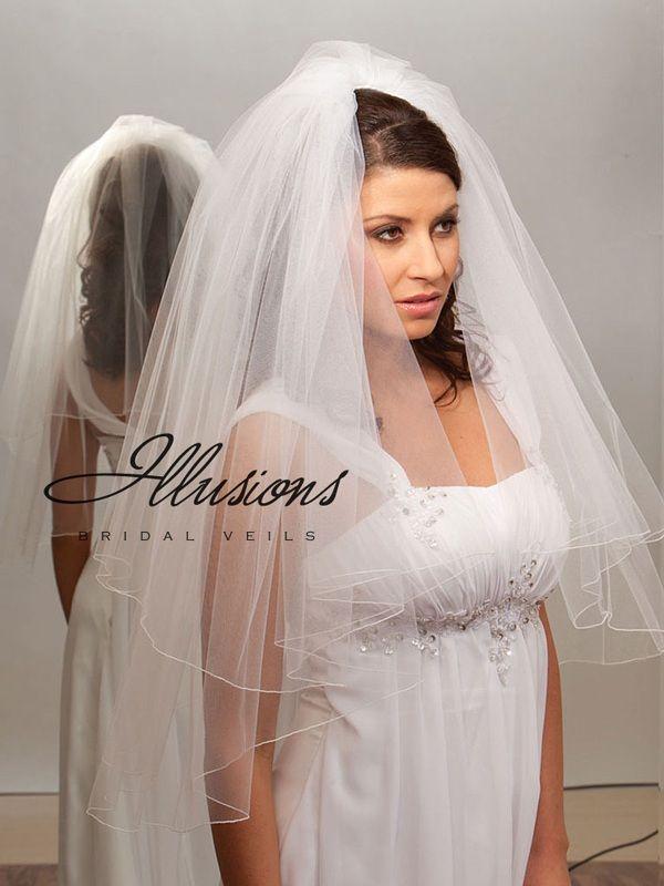 Illusions Bridal Corded Edge Veil C1-302-C